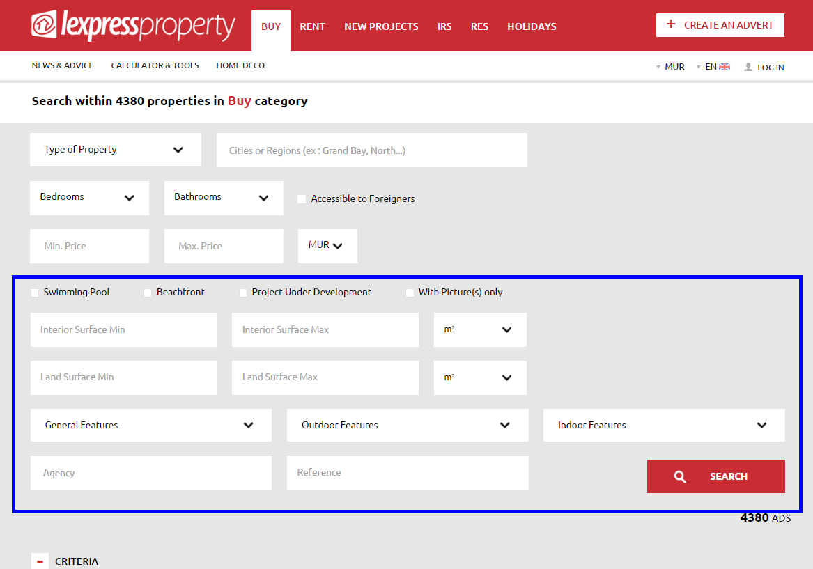 Advanced Search - Lexpress Property